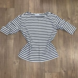 Everlane Crew Neck Sweater Striped Black and White